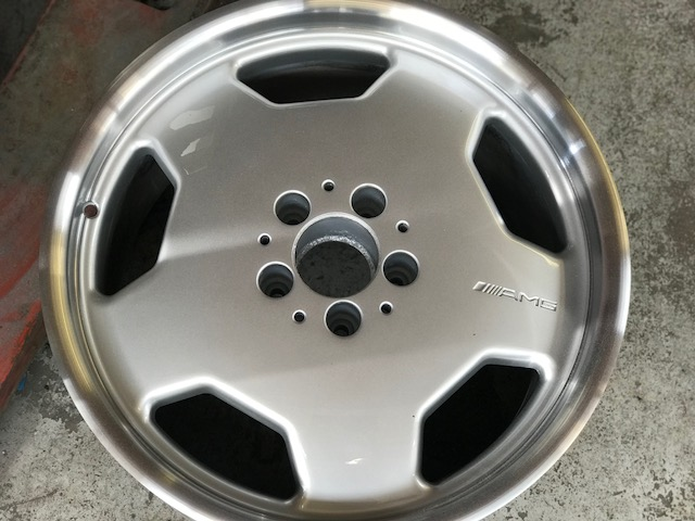 ready to polish Mercedes Wheel