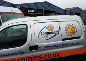 Exeter Chiefs Van
