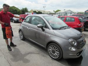 Fiat 500 Car Paint Repair Exeter