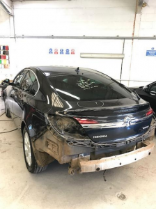 Vauxhall Insignia rear end damage