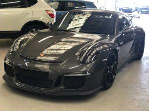 Porsche bonnet respray
