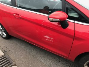 Ford Fiesta body damage