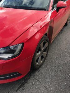 Audi A4 damage