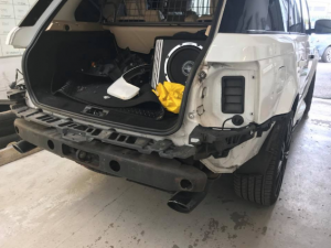Range Rover rear body repair