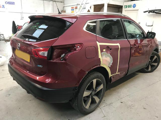 Nissan-quashqai-having-driver-side-crash-repair-done