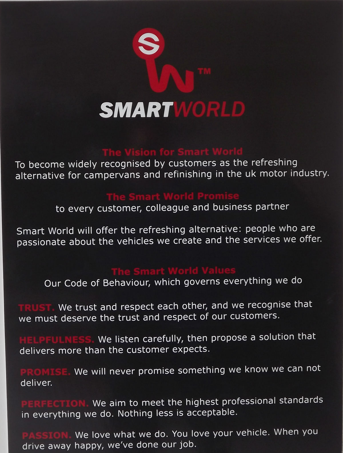 SmartWorld Values