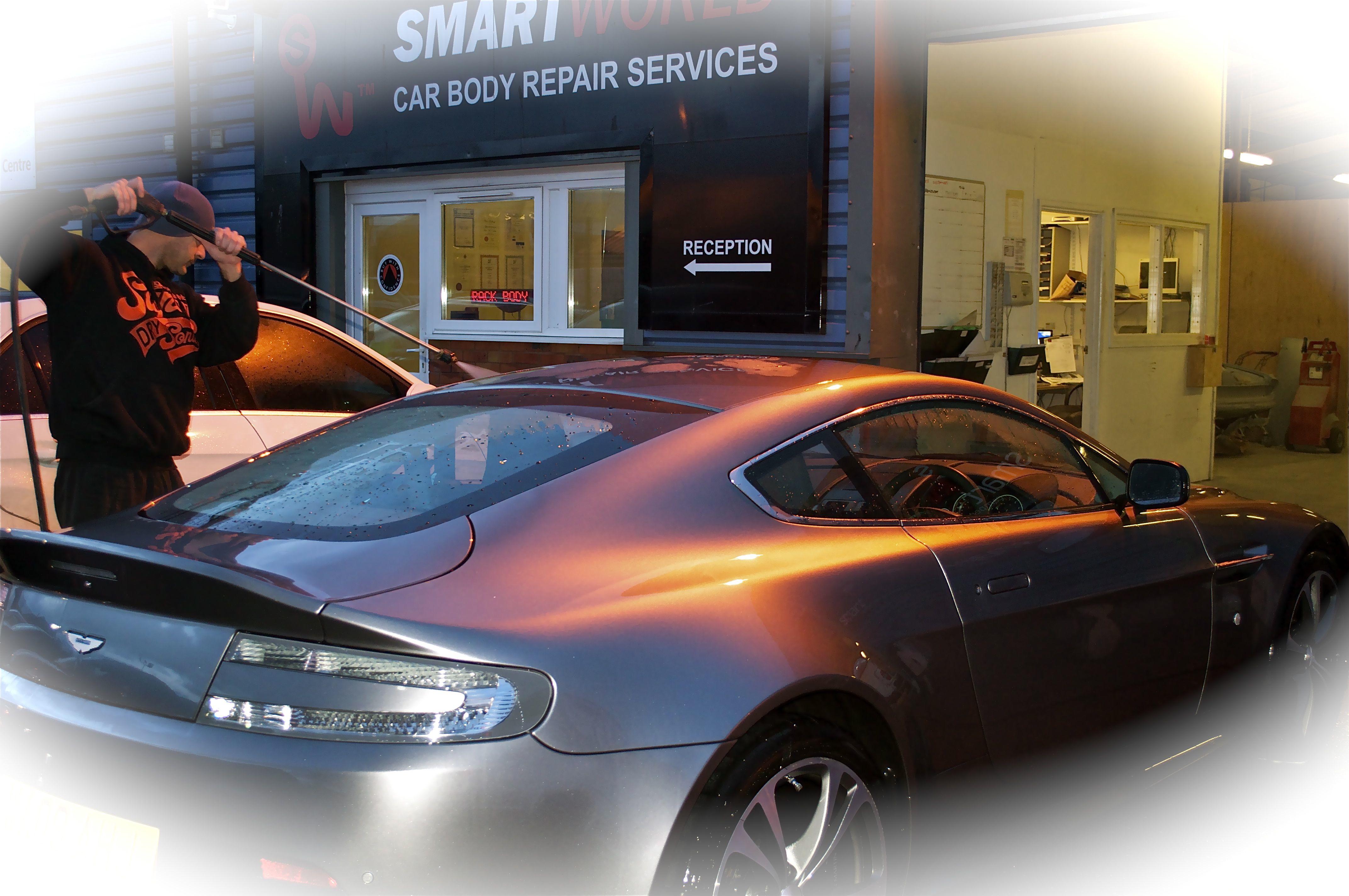 Aston Martin repairs Exeter