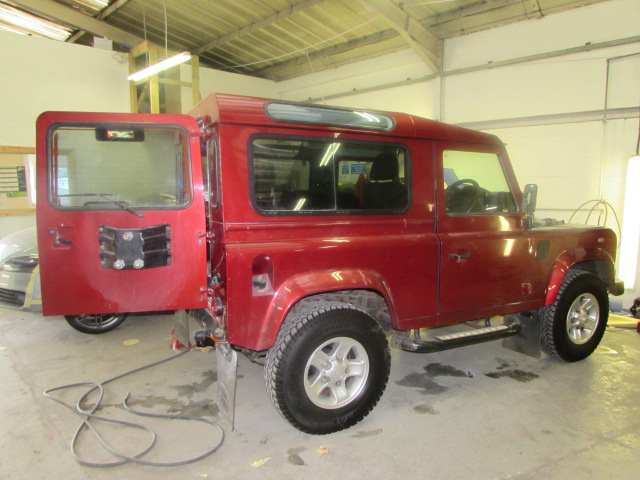 land rover 90 car body repair